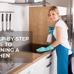 Does your kitchen get dirty too often? Don't know how to start the cleaning. Just follow this step-by-step guide to clean your kitchen in an effective way - Tenancy Cleaner